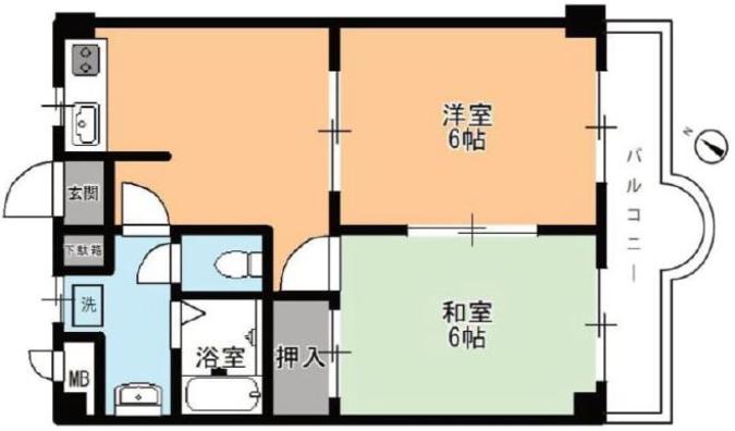プレール東武練馬2階 間取図