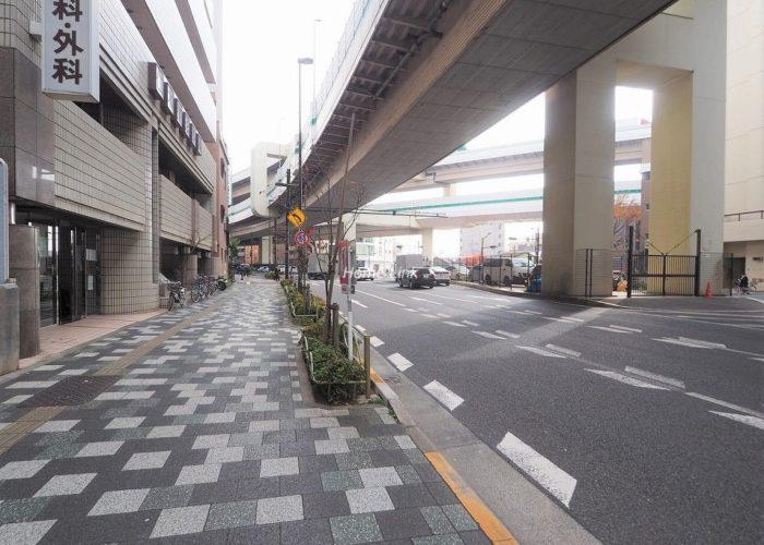 板橋区役所前リリエンハイム 前面道路歩道