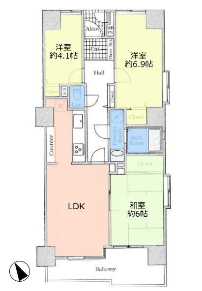 板橋区役所前リリエンハイム8階 間取図