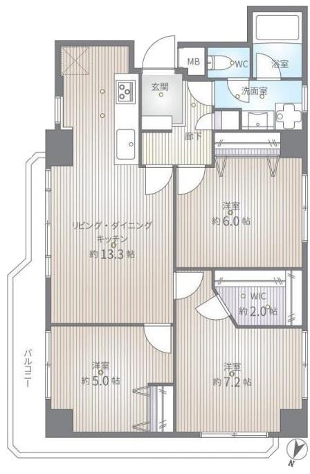 群峰小豆沢グレースマンション3階 間取図