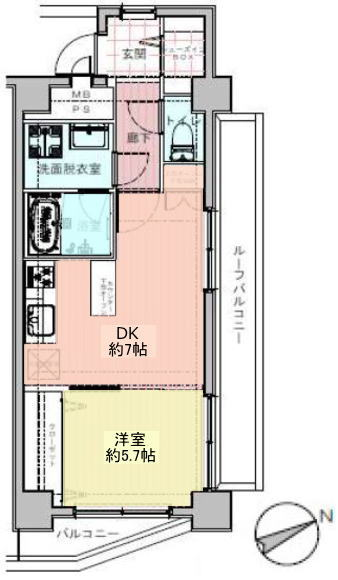 ダイアパレス新板橋12階 間取図