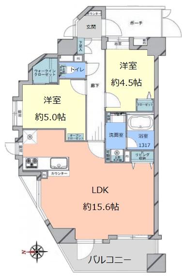 レクセルマンション要町3階 間取図
