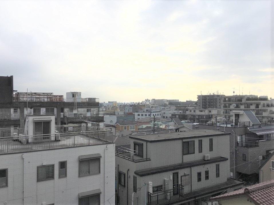 大山セントラルハイツ5階 晴れている時は富士山も見える眺望