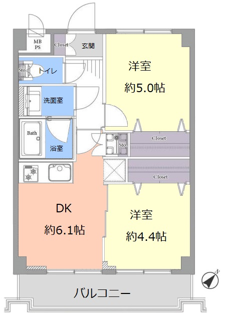 日神パレステージ志村坂下2階 間取図