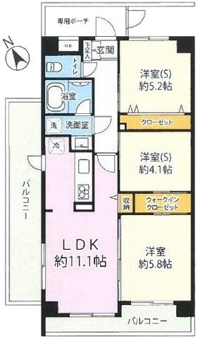 レーベンハイム常盤台プラザ6階 間取図