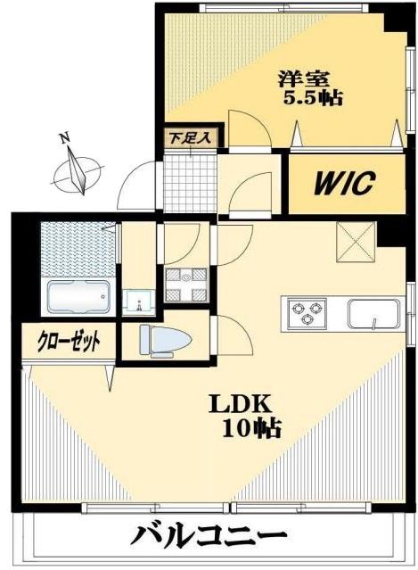 桜川三浦マンション10階 間取図