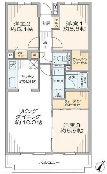 ユニーブル成増1階 間取図