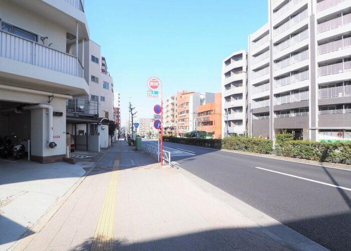 中板橋セントラルマンション 前面道路歩道