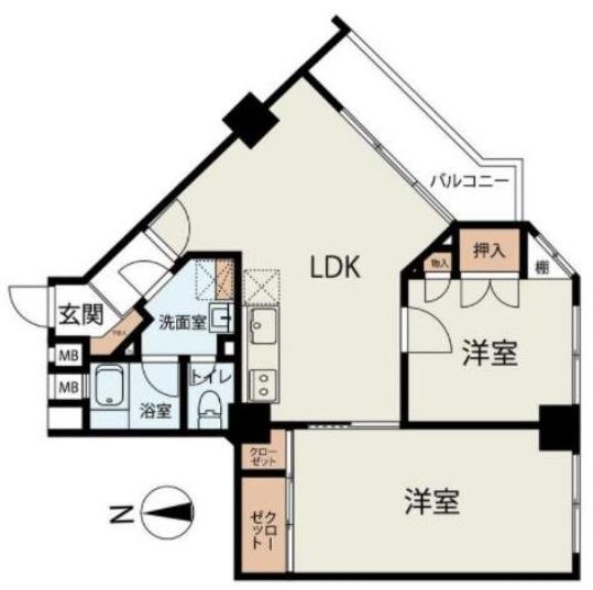 稲和高島平ハイム7階 間取図