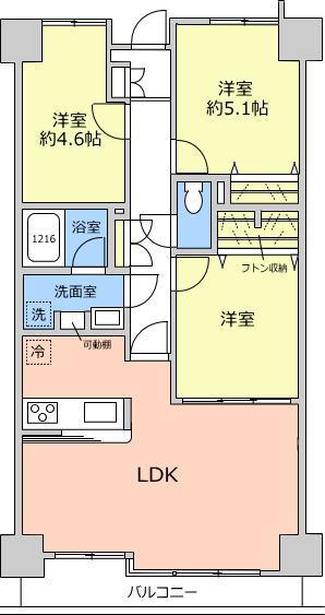 戸田公園スカイマンション8階 間取図