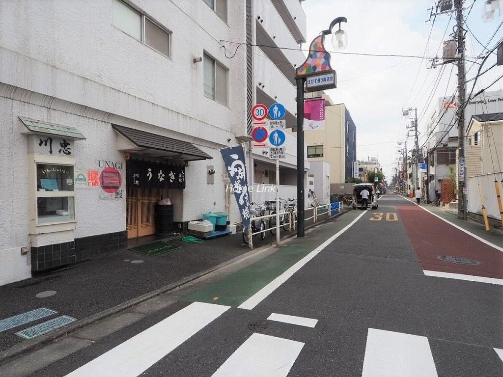 パラスト中板橋 前面道路(えびす通り商店会)