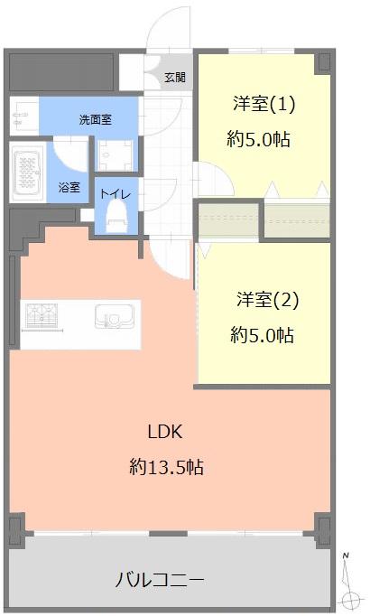 メゾン常盤台6階 間取図