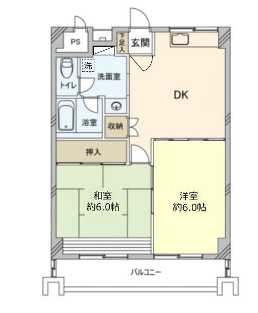 川口栄町グレースマンション7階 間取図