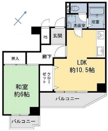 志村坂上パークハイツ5階 間取図