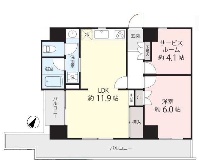 シャロン志村坂上セカンドステージ4階 間取図