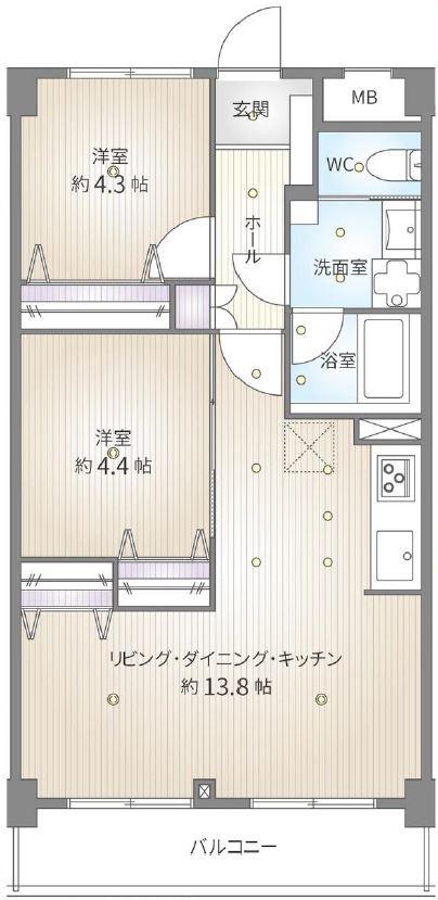 ライオンズマンション新高島平3階 間取図