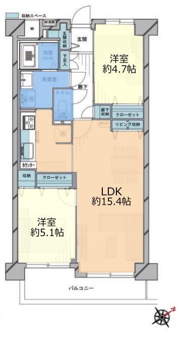 西台セントラルマンション3階 間取図