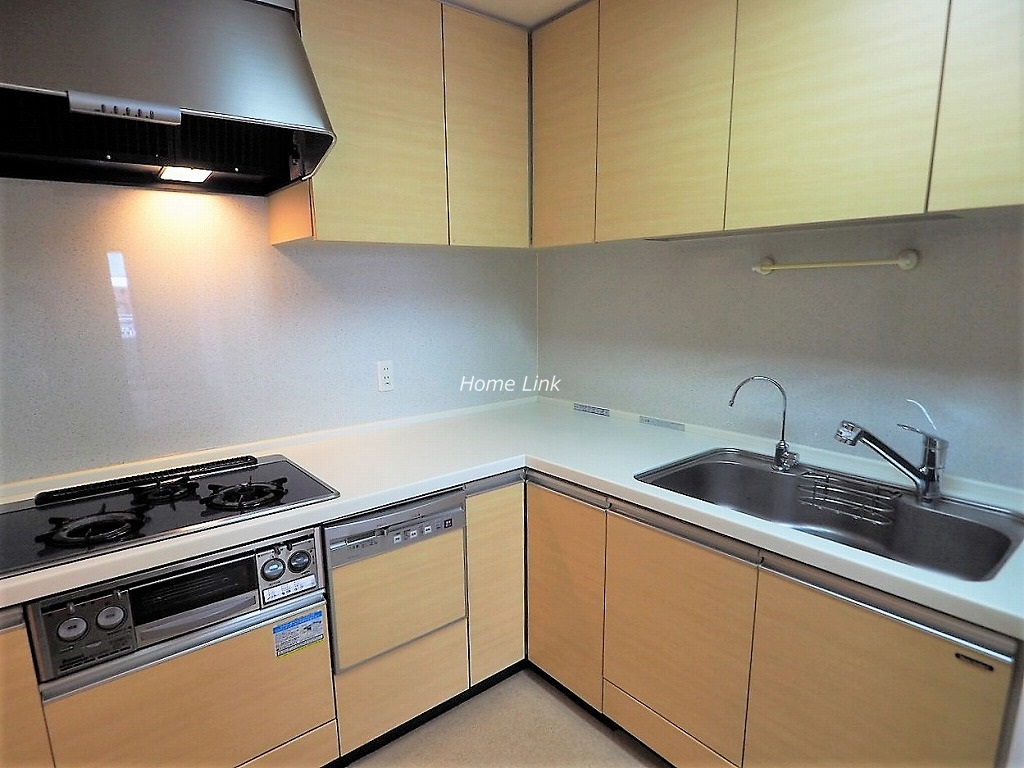 びゅうパルク板橋弥生町3階 キッチンは作業スペースが広いL字型