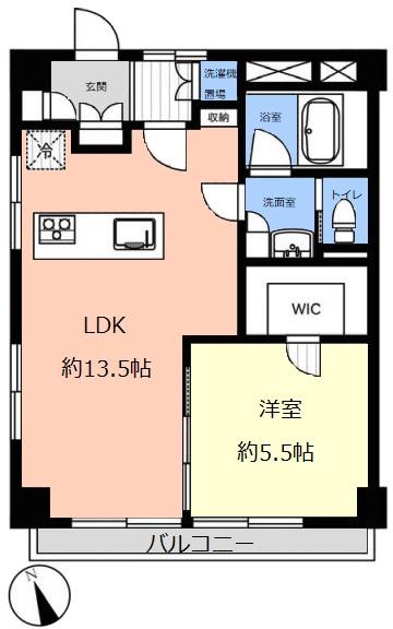 ハイビレッジ常盤台6階 間取図