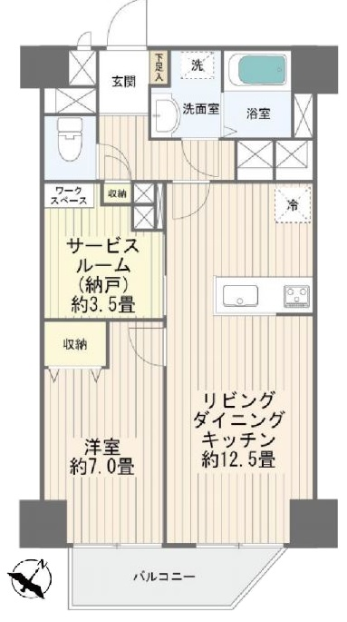 小豆沢ローズハイム6階 間取図