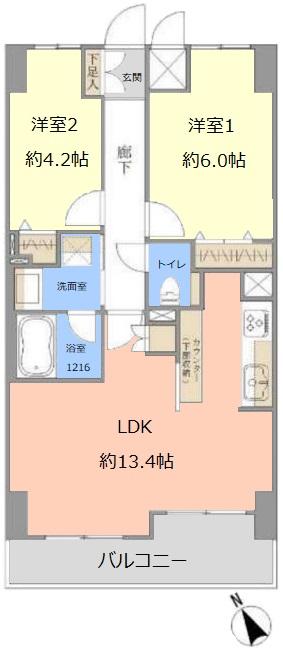 シーアイマンション池袋西9階 間取図
