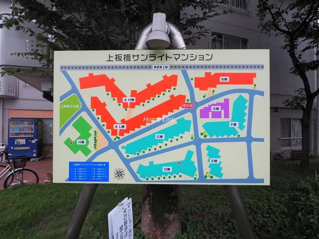 上板橋サンライトマンションAL棟 配置図