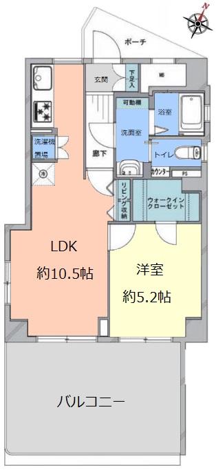 上板橋サンライトマンションF棟4階 間取図