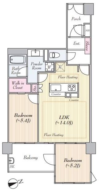 Dクラディアときわ台5階 間取図