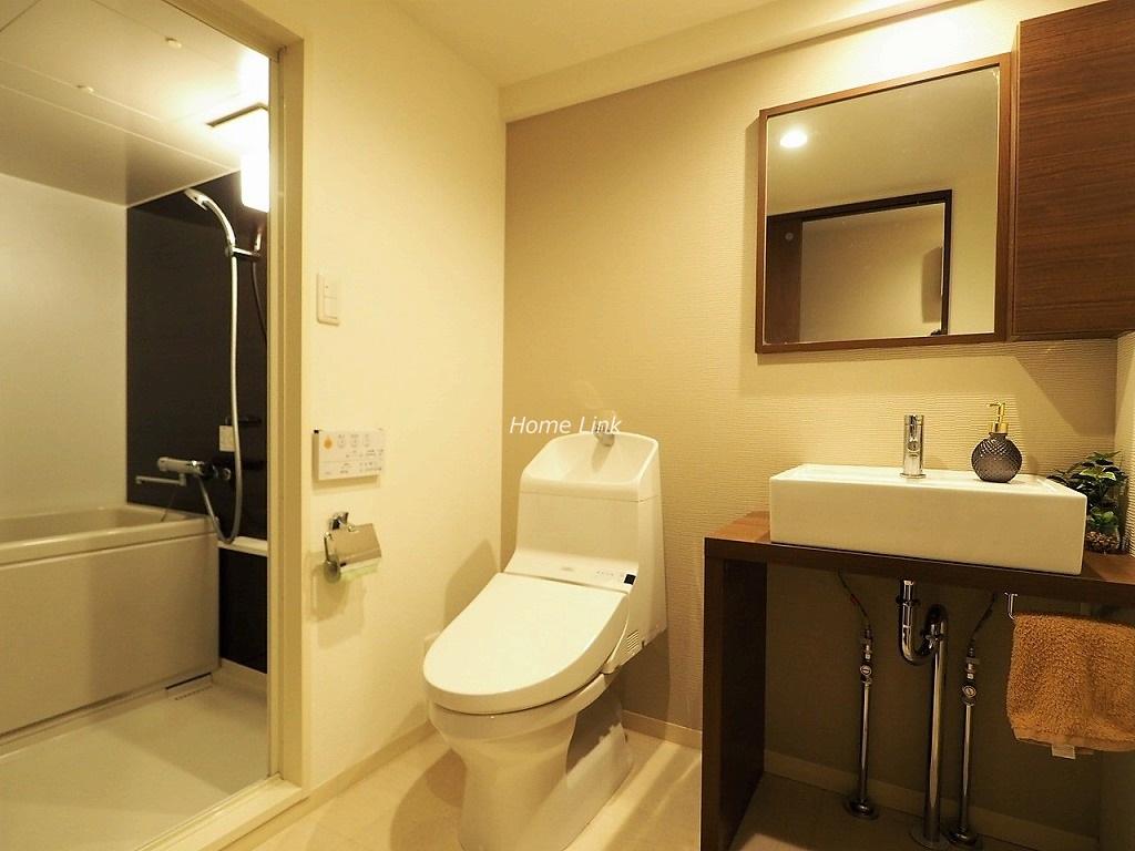 常盤台宝マンション4階 洗面とトイレ